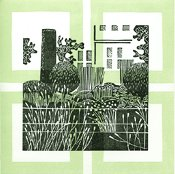 informal-formal-cottage garden linocut